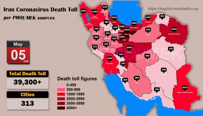 Over 39,300 dead of coronavirus (COVID-19) in Iran-Iran Coronavirus Death Toll per PMOI MEK sources