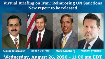 NCRI-US to Host Virtual Briefing on Iran: Reimposing UN Sanctions, Will Release New Report