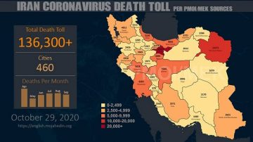 COVID-19 Catastrophe – Fatalities Surpass 136,300 in Iran