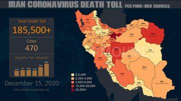 Iran: Coronavirus Fatalities Surpass 185,500
